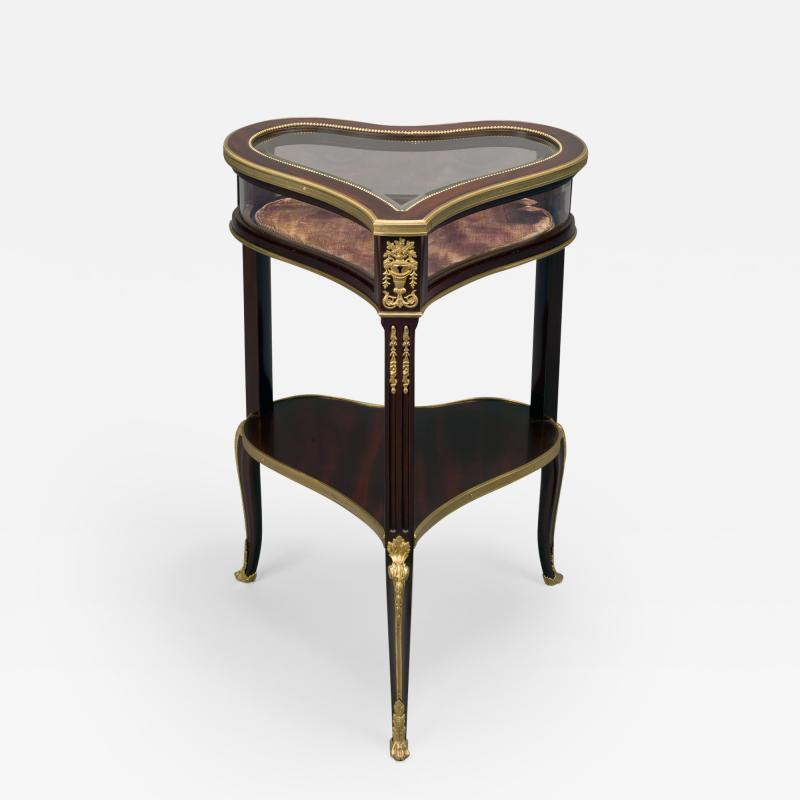 Georges Fran ois Alix A Gilt Bronze Mounted Mahogany Table Vitrine