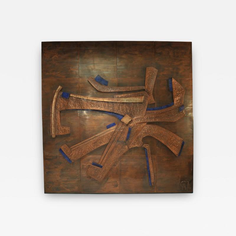 Georges Muller Decorative Copper Panel