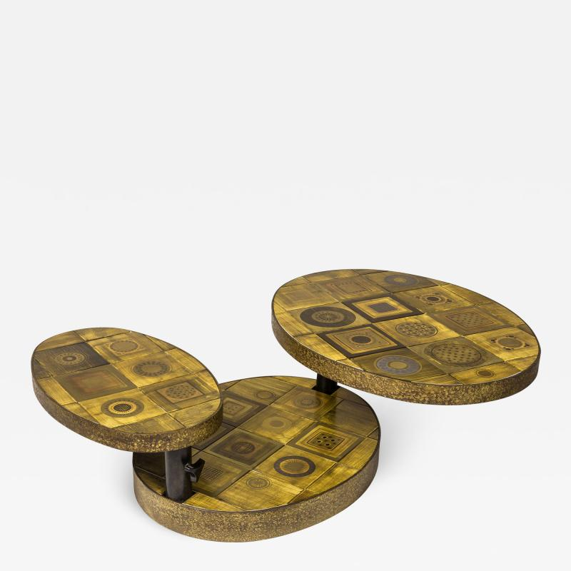 Georges Pelletier Georges Pelletier Ceramic Coffee Table for Roche Bobois circa 1970 France