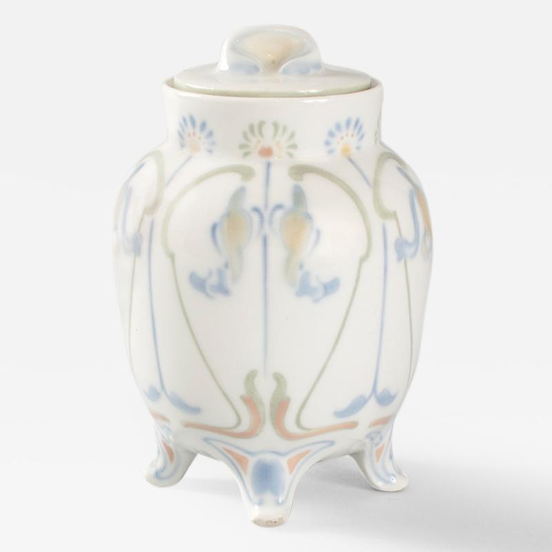 Georges de Feure French Art Nouveau Covered Porcelain Jar by de Feure