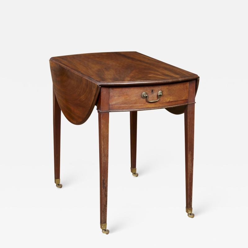 Georgian Oval Mahogany Pembroke Table