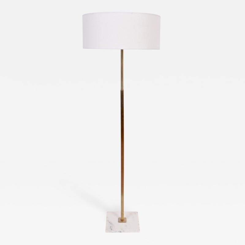 Gerald Thurston Gerald Thurston for Stiffel Marble and Brass Floor Lamp 1960s