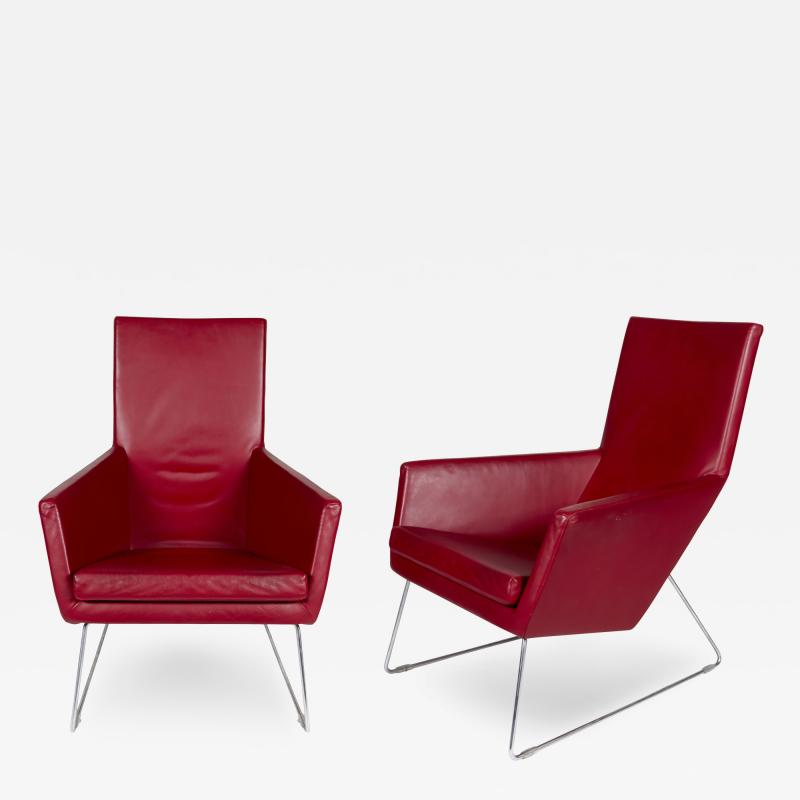 Gerald Van Den Berg Pair of Don Lounge Chairs