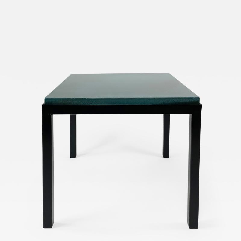 Gerard Simo n TURQUOISE GLAZED LAVA STONE SIDE TABLE
