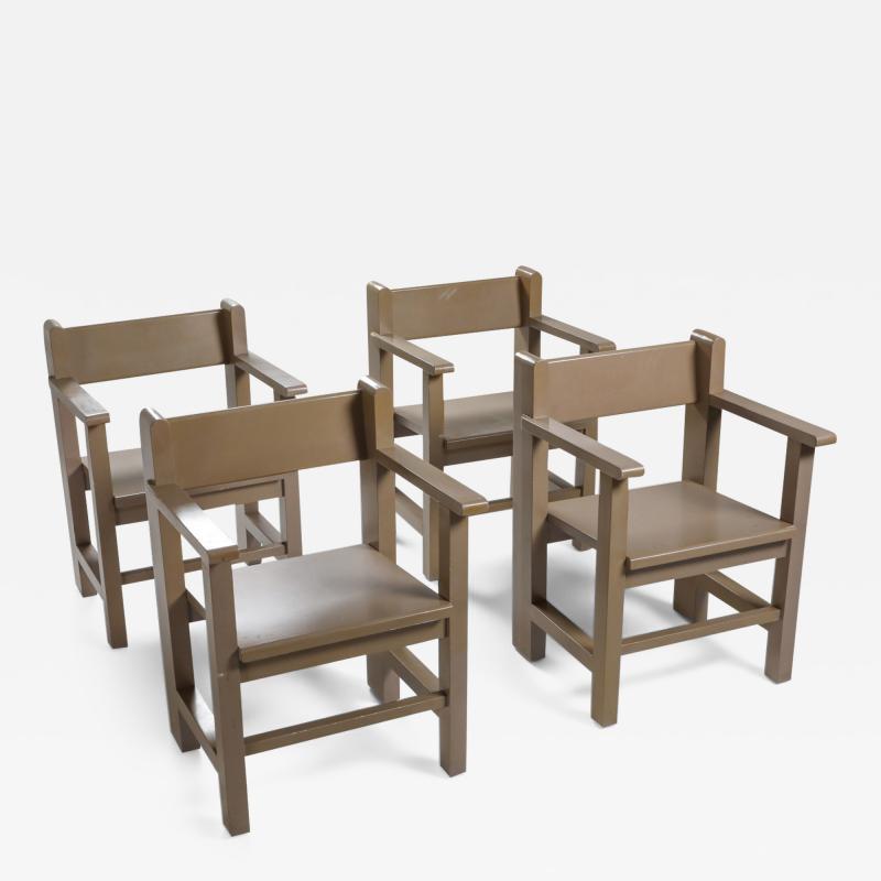 Gerard Wijnen Dutch Modernist Bossche school Armchairs by Gerard Wijnen 1950s