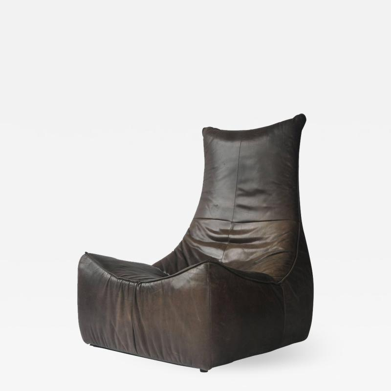 Gerard van den Berg 1970s Leather Chair by Gerard Van Den Berg for Montis