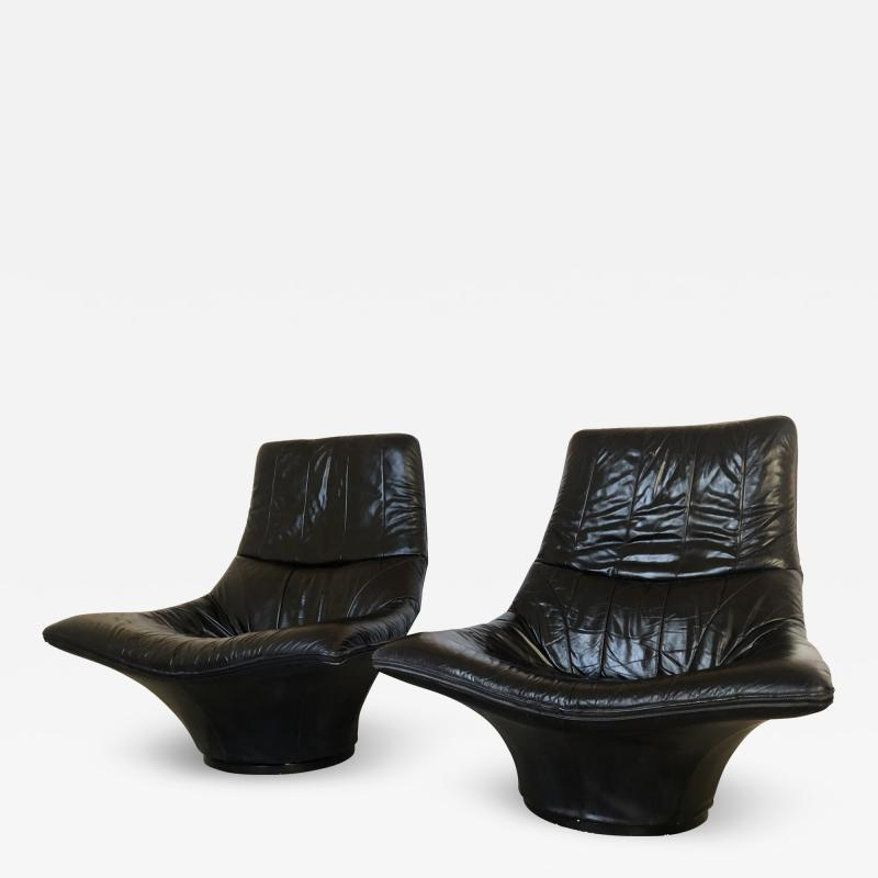Gerard van den Berg Pair of Lounge Arm Chairs by Gerard van den Berg Model Mantis