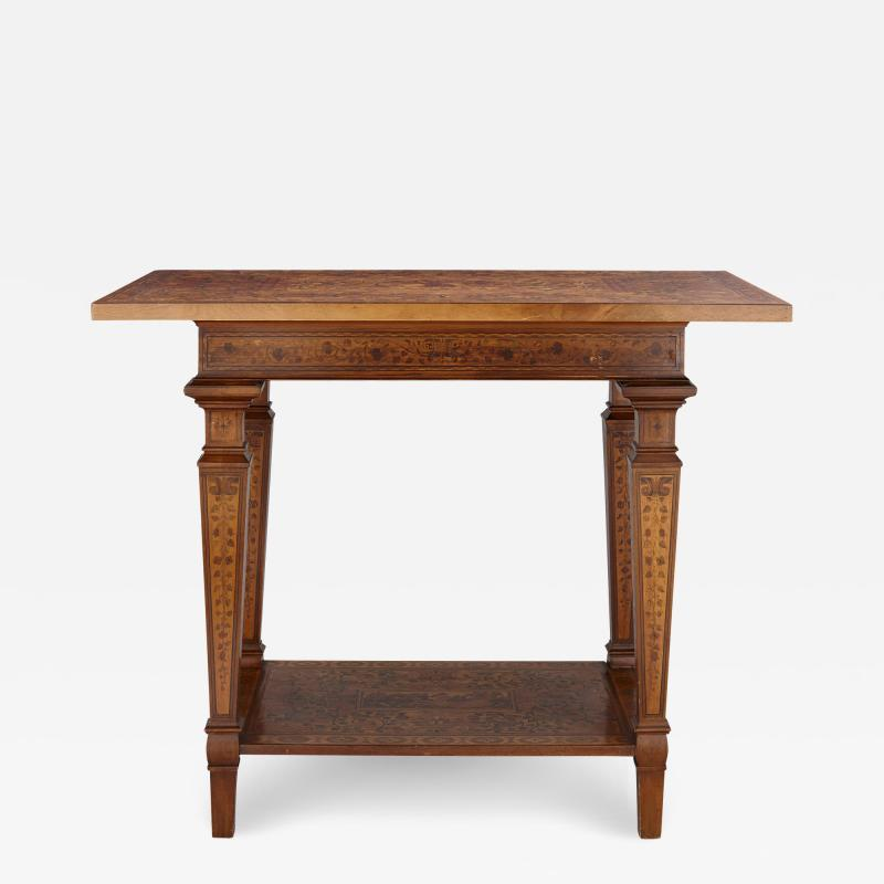 German Baroque centre table with marquetry inlays
