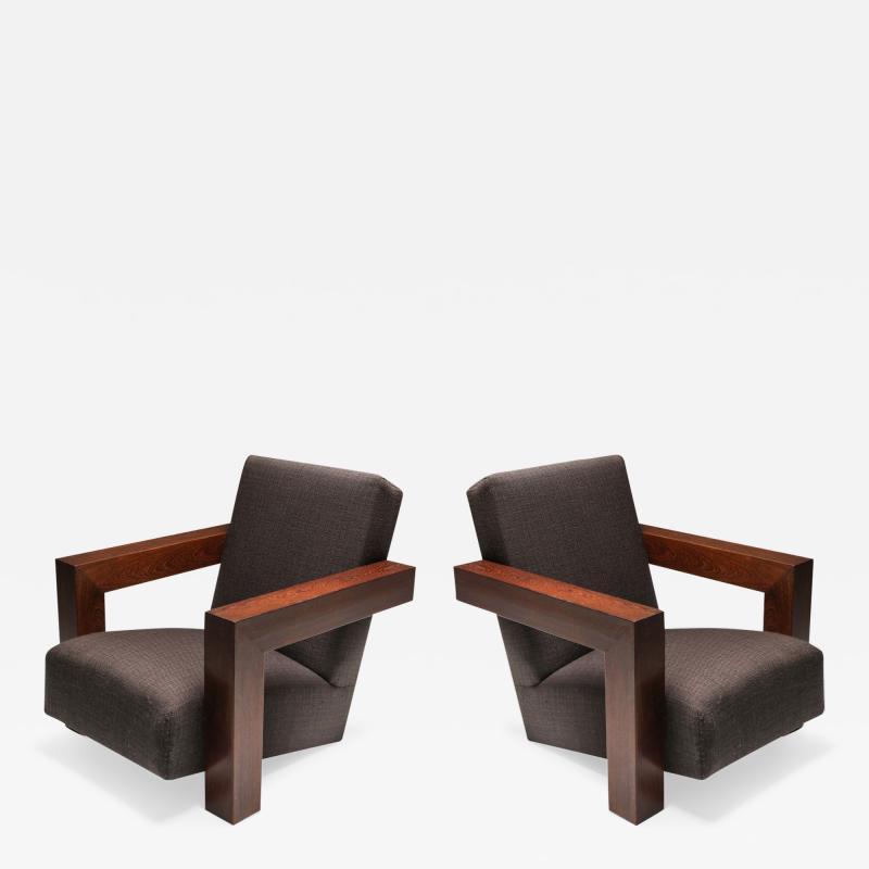 Gerrit Rietveld Rietvelds Utrecht Chair with Wooden Frame 1960s