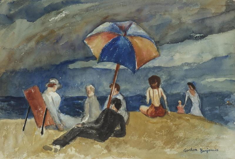 Gershon Benjamin At the Beach VI