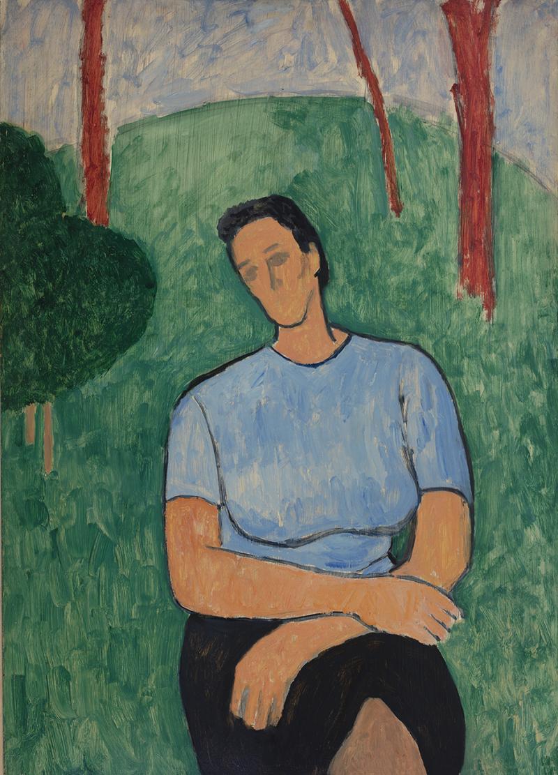 Gershon Benjamin Rushelle in the Garden