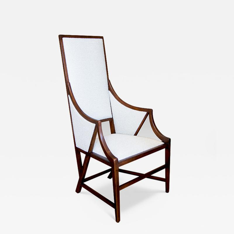 Giacomo Cometti Highly Sculptural Armchair in Oak by Giacomo Cometti