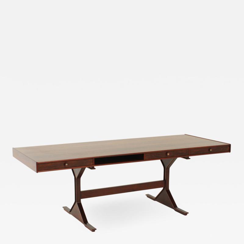 Gianfranco Frattini Gianfranco Frattini Large Rosewood Desk for Bernini