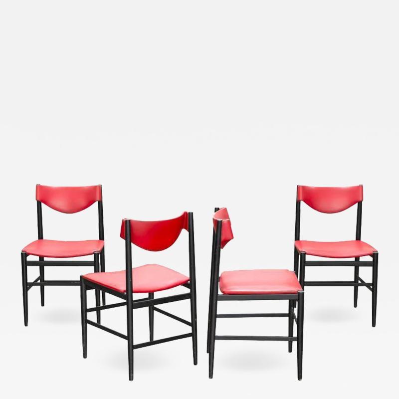 Gianfranco Frattini Set of Four Chairs by Gianfranco Frattini for Cassina