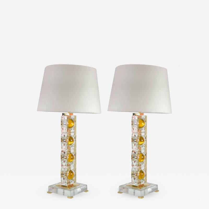 Gianluca Fontana Pair of lamps designed by Gianluca Fontana
