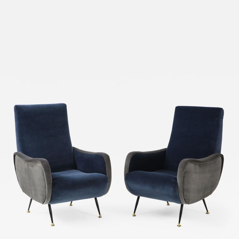Gigi Radice Pair of Italian arm chairs by Gigi Radice Italy