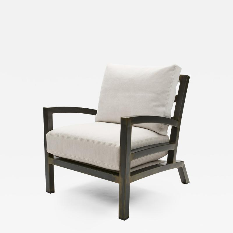 Gil Melott Gil Melott BESPOKE TX6315 Handmade Custom Steel Urban Lounge Chair for Studio 6F