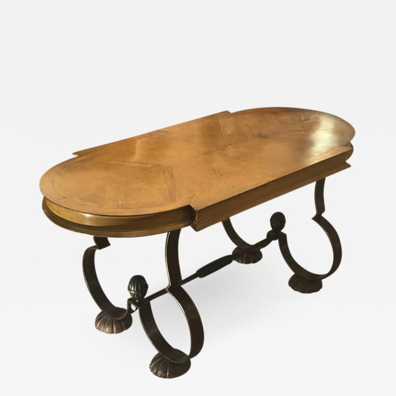 Gilbert Poillerat Gilbert Poillerat attributed charming exquisite coffee table in wood and iron