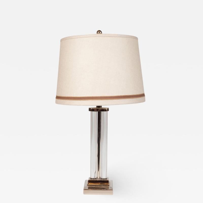 Gilbert Rohde Art Deco Glass and Nickel Table Lamp by Gilbert Rohde for MSLC
