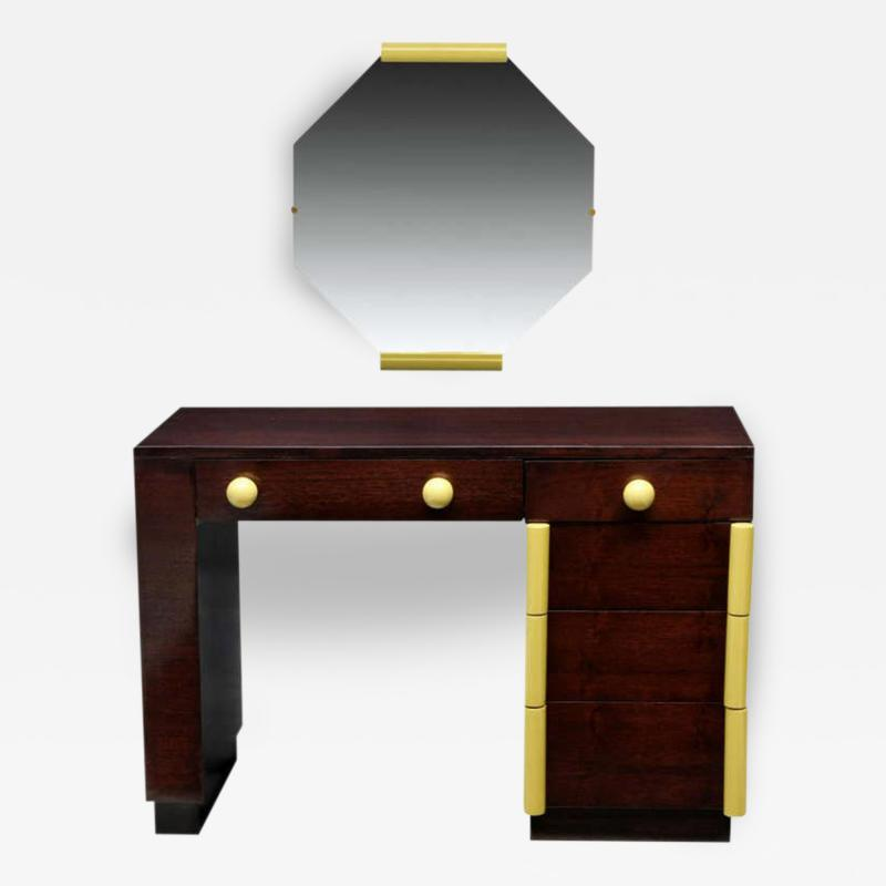 Gilbert Rohde Art Deco Vanity Desk And Mirror Gilbert Rohde for Cavalier