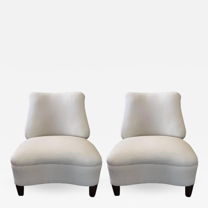 Gilbert Rohde Pair of 1950s Upholstered Lounge Chairs