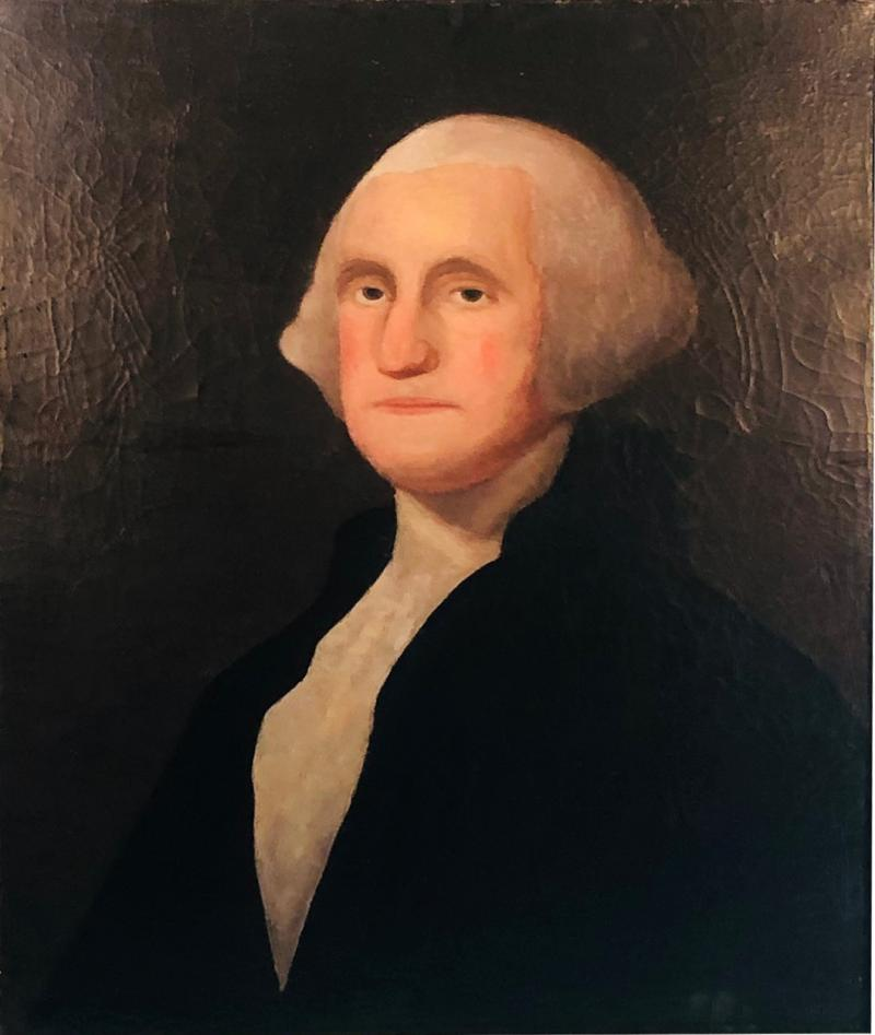 Gilbert Stuart Newton Exceptional George Washington Portrait After Gilbert Stuart