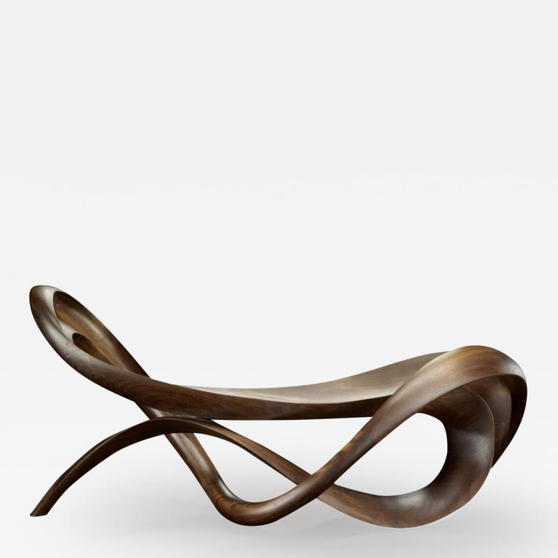 Gildas Berthelot Sculpted Black Walnut Bowl by Gildas Berthelot