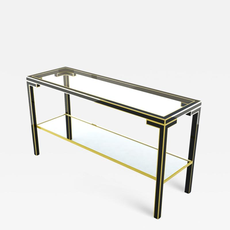 Gilded Metal Console Table