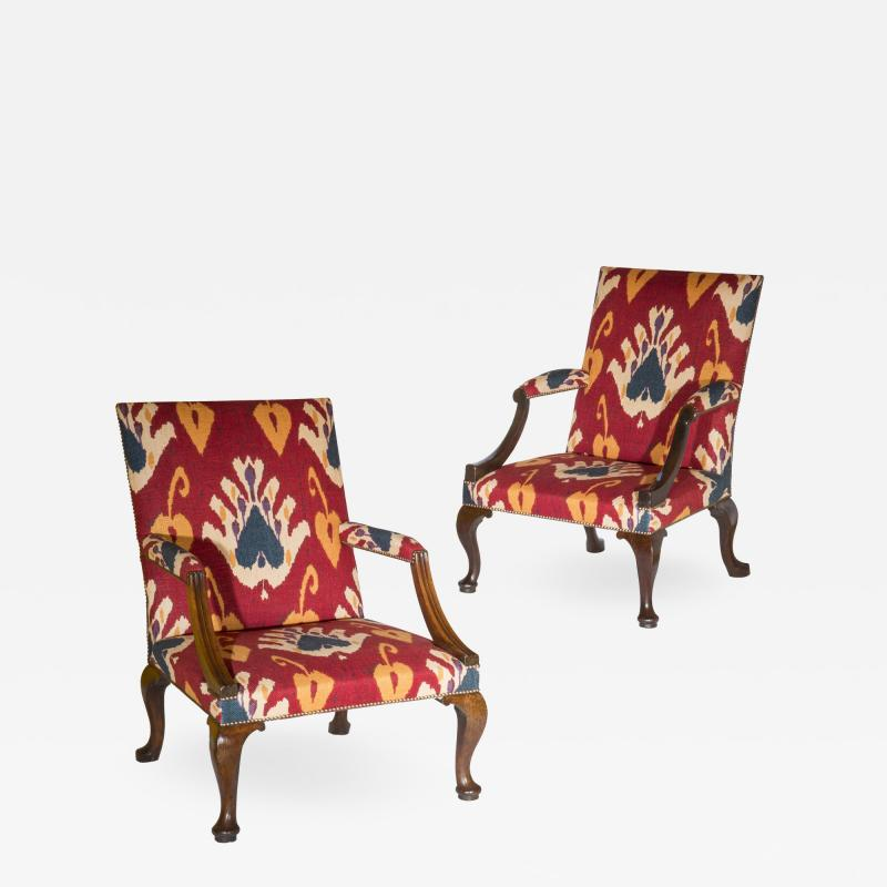 Giles Grendey Close Pair of George II Gainsborough Armchairs