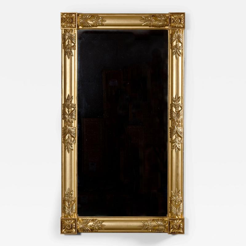 Gilt Wood Pier or Overmantle Mirror
