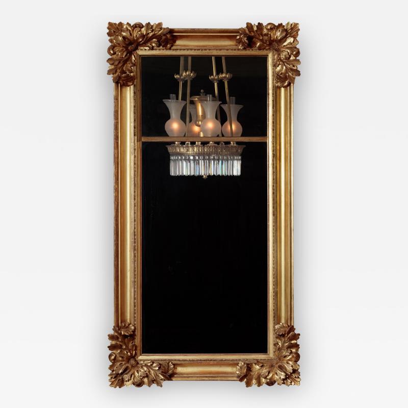 Gilt wood Pier Mirror with Elaborate Carved Corner Elements