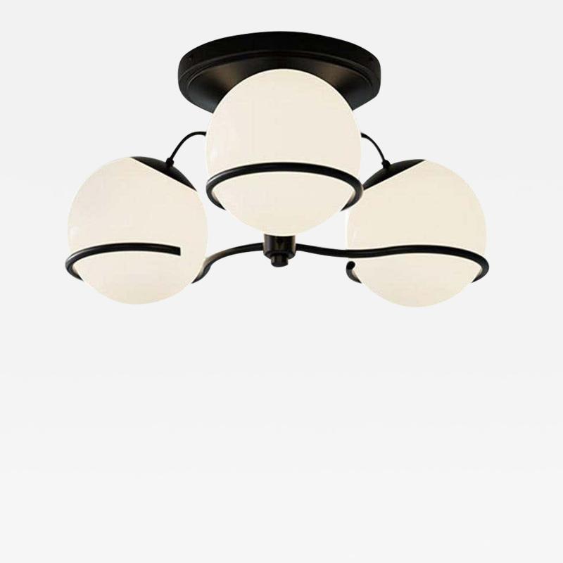 Gino Sarfatti Gino Sarfatti Model 2042 3 Ceiling Light in Black