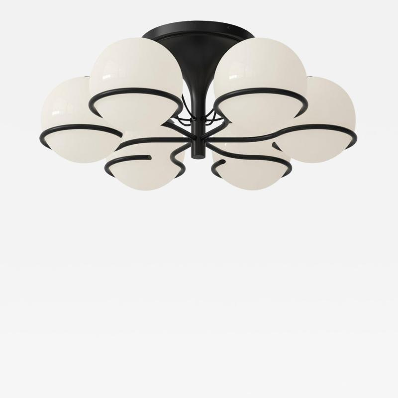 Gino Sarfatti Gino Sarfatti Model 2042 6 Ceiling Light in Black