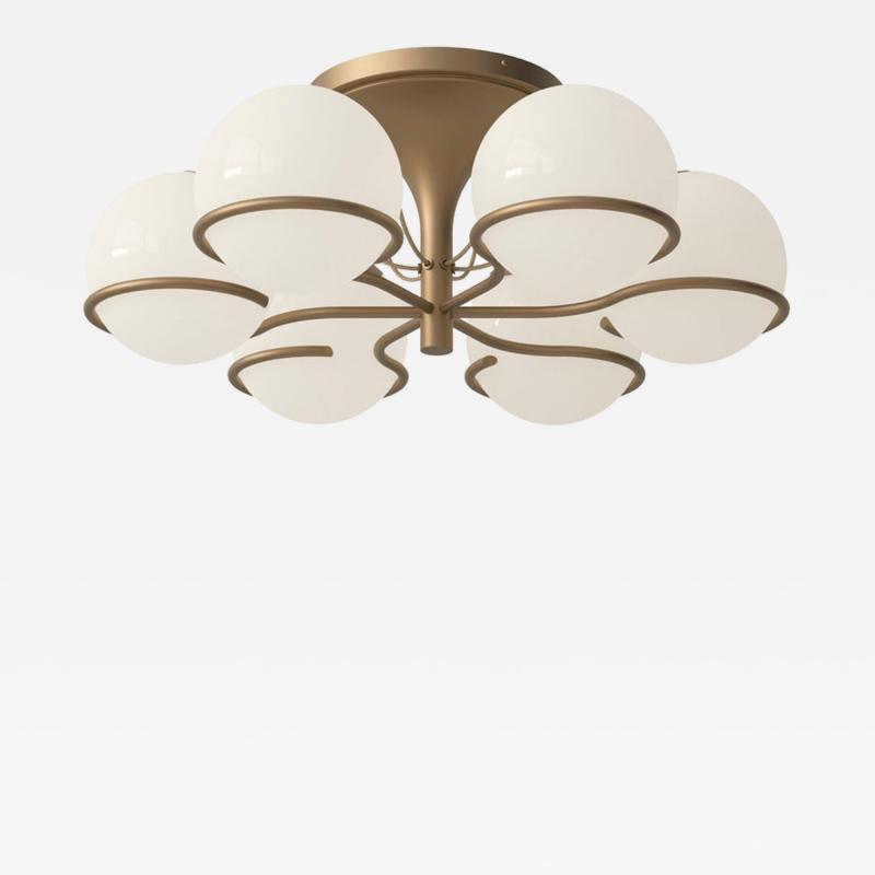 Gino Sarfatti Gino Sarfatti Model 2042 6 Ceiling Light in Brass