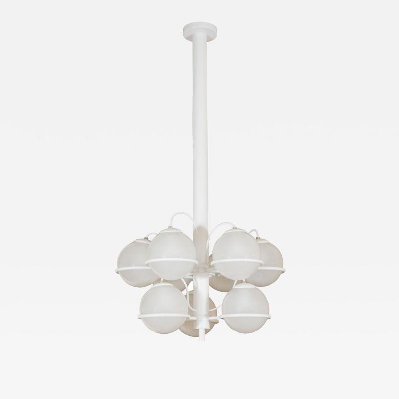 Gino Sarfatti Nine ball chandelier Model No 2042 9 by Gino Sarfatti for Arteluce