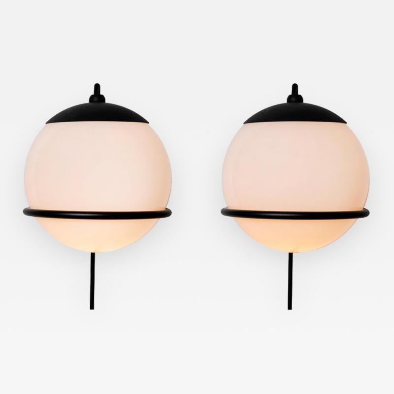 Gino Sarfatti Pair of Gino Sarfatti Model 237 1 Wall Lamps in Black