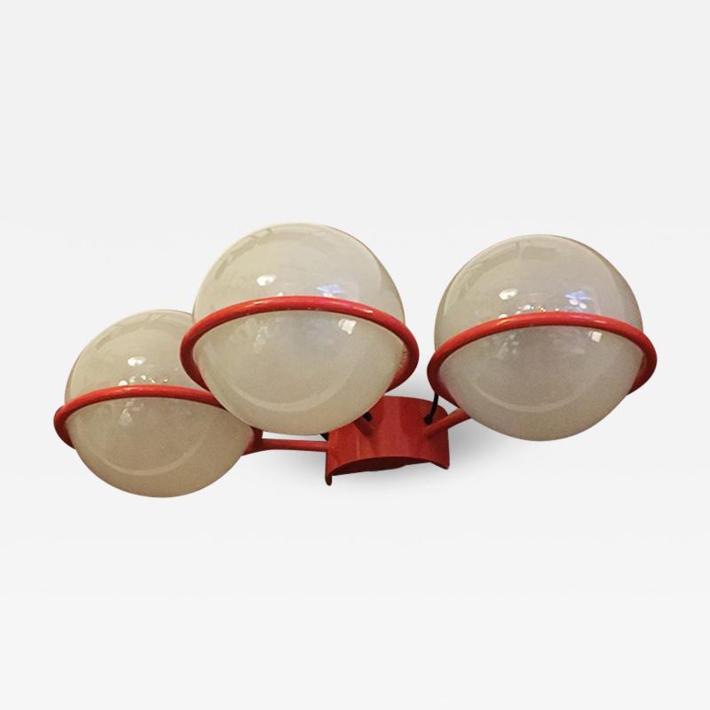 Gino Sarfatti Three light wall lamp by Gino Sarfatti for Arteluce 1960s