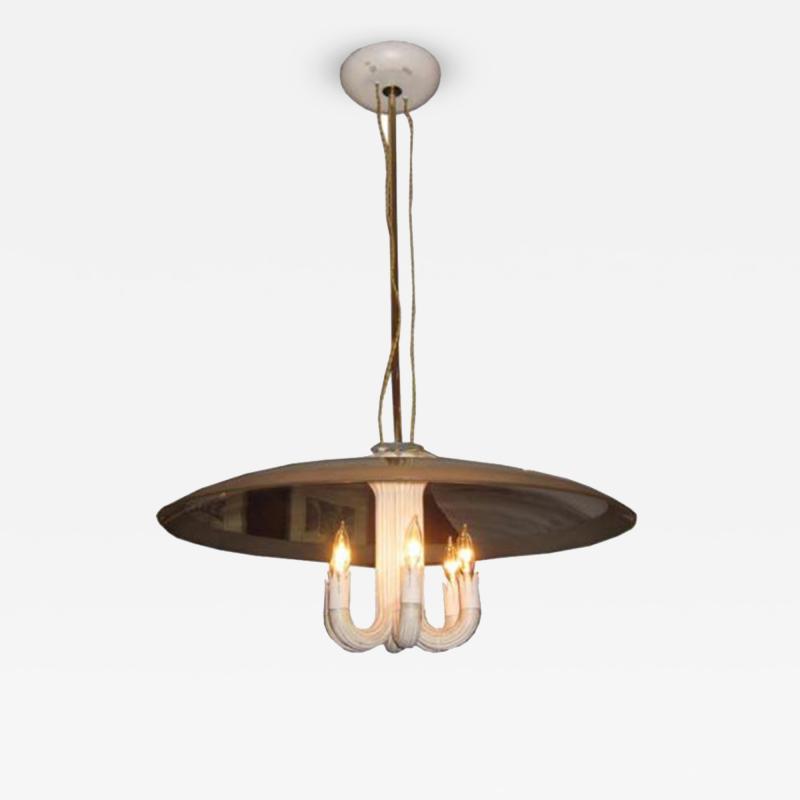 Gio Ponti A Modernist Chandelier by Gio Ponti for Fontana Arte
