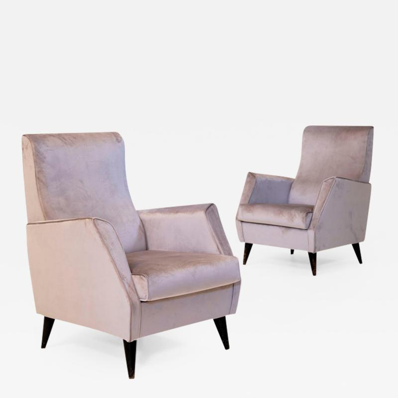 Gio Ponti Elegant Pair of Italian Armchairs