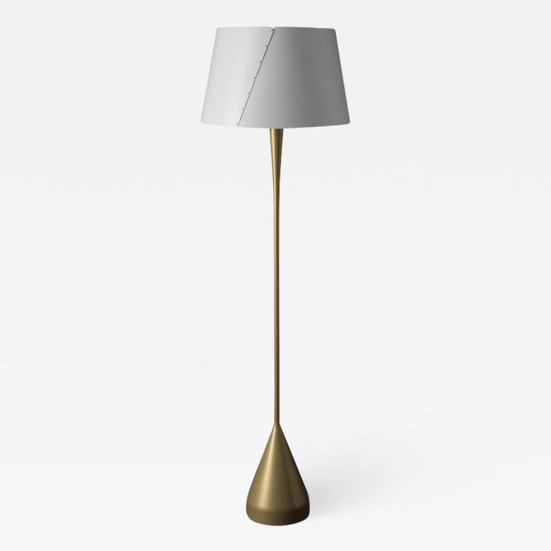 Gio Ponti Gio Ponti De Lux A4 Floor Lamp in Gold