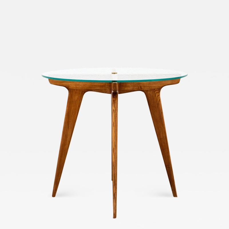 Gio Ponti Gio Ponti Maple And Glass Circular Table