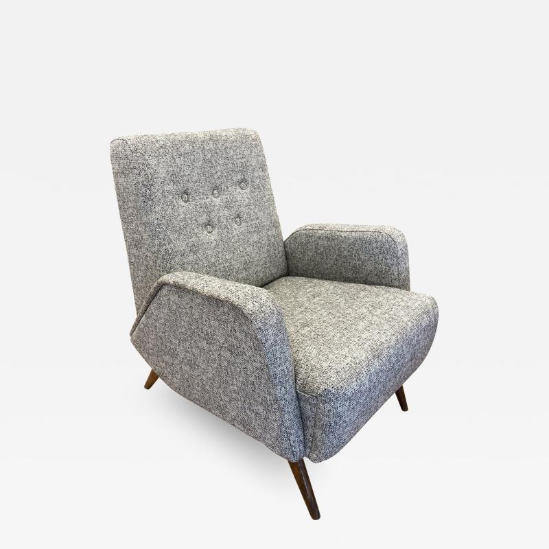 Gio Ponti Gio Ponti Style Lounge Chair Italy 1960s