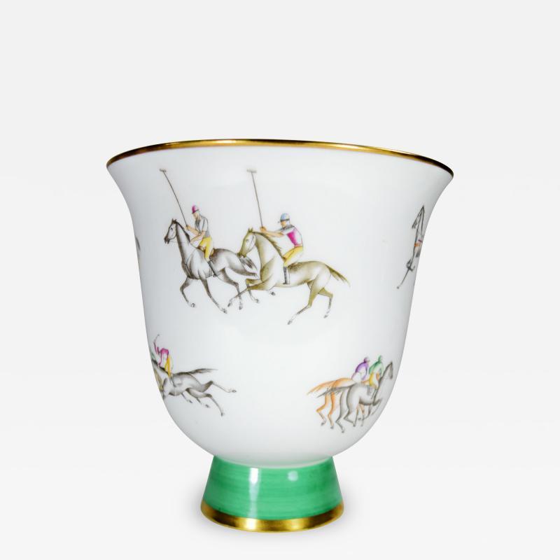 Gio Ponti Gio Ponti for Richard Ginori Vase Polo Horses