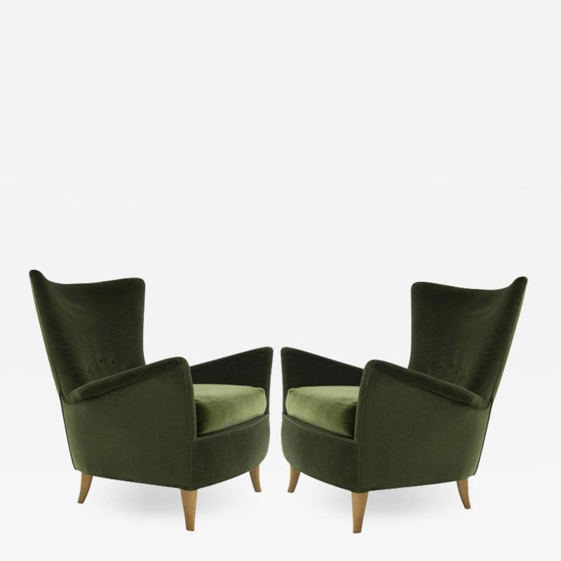 Gio Ponti Italian Lounge Chairs Gio Ponti for the Hotel Bristol Merano circa 1950s