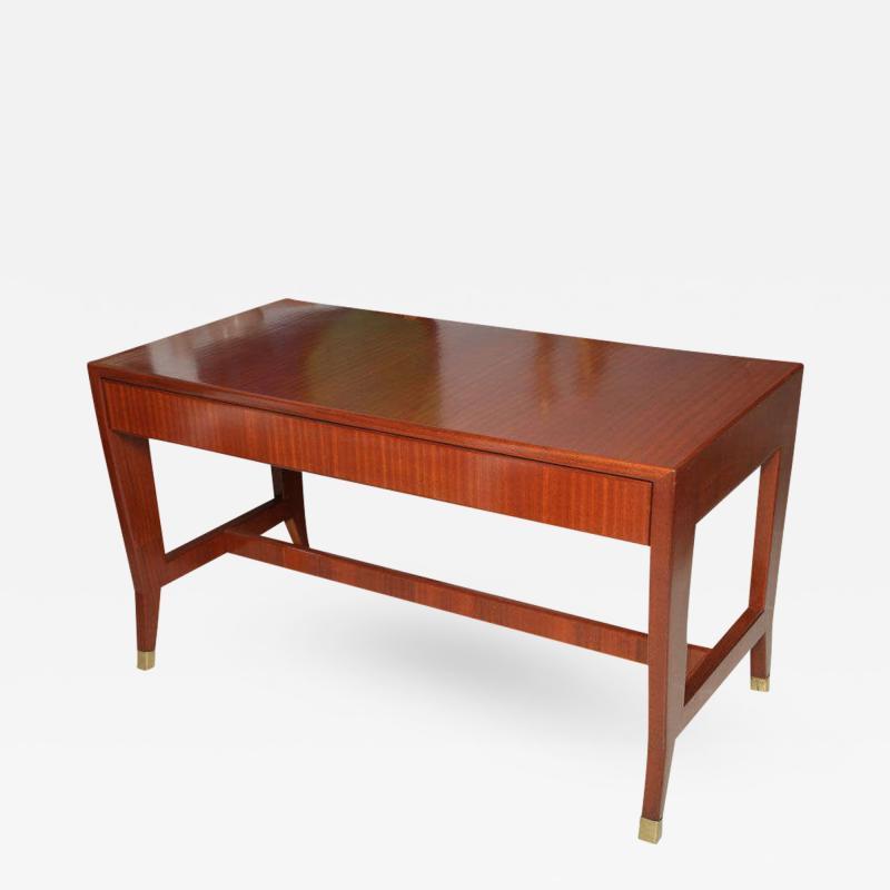 Gio Ponti Italian Modern Mahogany Desk Writing Table Gio Ponti