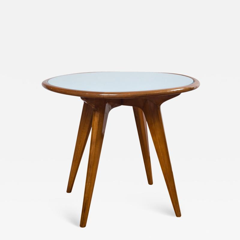 Gio Ponti Mid Century Low Circular Side Table Gio Ponti Style