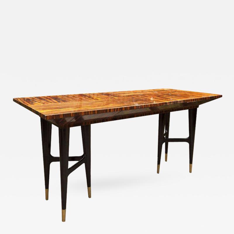 Gio Ponti Mid Century Macassar Ebony Writing Desk in the Manner of Gio Ponti