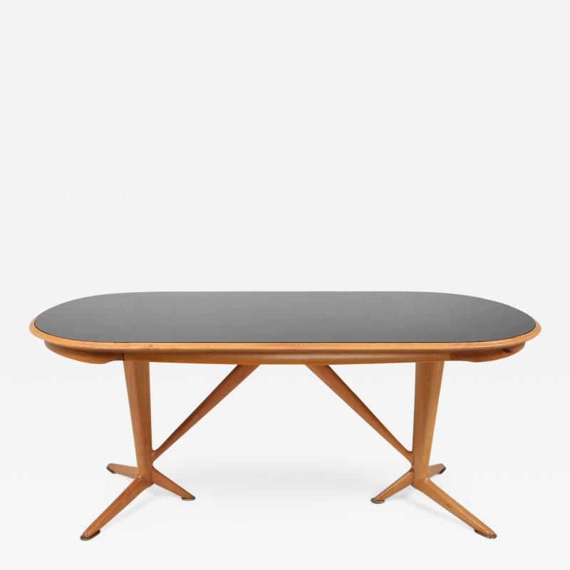 Gio Ponti Oak Dining Table in the style of Gio Ponti 1970s