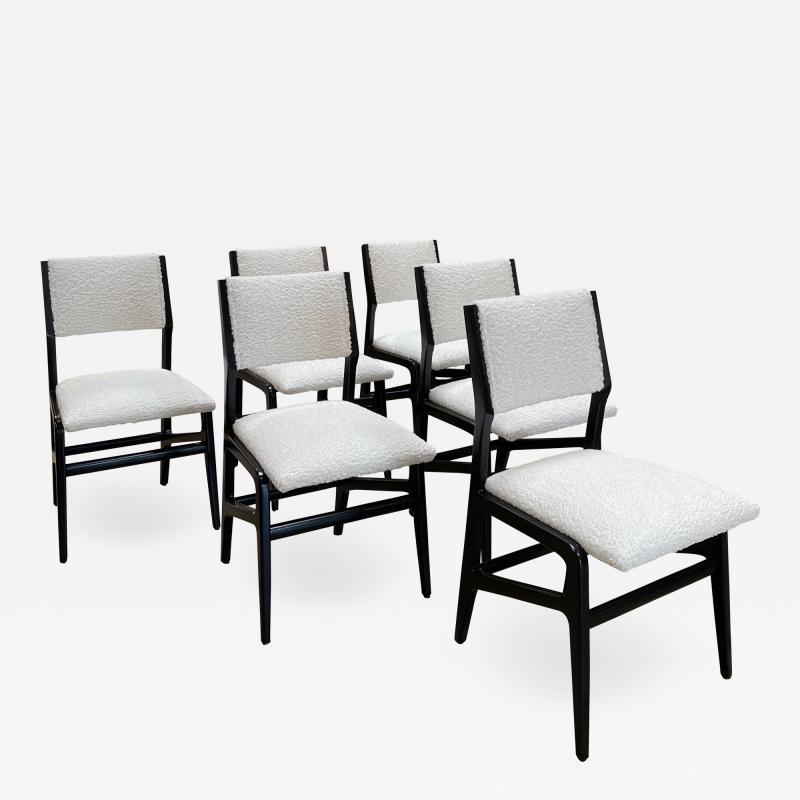 Gio Ponti Pair of 6 Dining Chairs Attributed to Gio Ponti Italy 1960