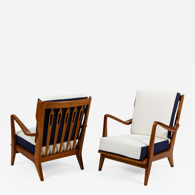 Gio Ponti Pair of Armchairs Model 516 by Gio Ponti for Cassina